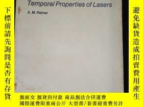 二手書博民逛書店Spectral罕見,Spatial,and Temporal Properties of LasersY16