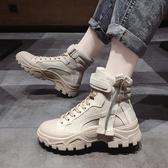短靴 馬丁靴女鞋秋款新款冬季加絨刷毛英倫風機車靴網紅厚底百搭短靴子