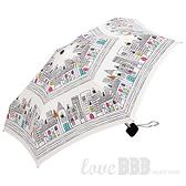 日本KIU 31011 貓與城市 輕巧摺疊雨傘/抗UV陽傘 附收納袋(男女適用)
