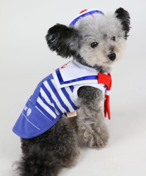 【PET PARADISE 寵物精品】Narikiri 水手服連帽造型上衣 (3S) 狗衣服 寵物用品 寵物衣服 《SALE》
