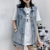 馬甲 春夏季新款2021女裝網紅牛仔馬甲女韓版寬鬆無袖背心馬夾外套潮 小天使