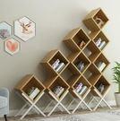 Z-特價時尚北歐創意組合樹形鐵藝兒童書架...
