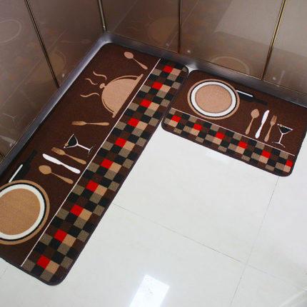 廚房地墊防滑吸水防油可手洗家用長條墊子防水防滑墊廚房墊腳墊腳踏墊【全館免運】