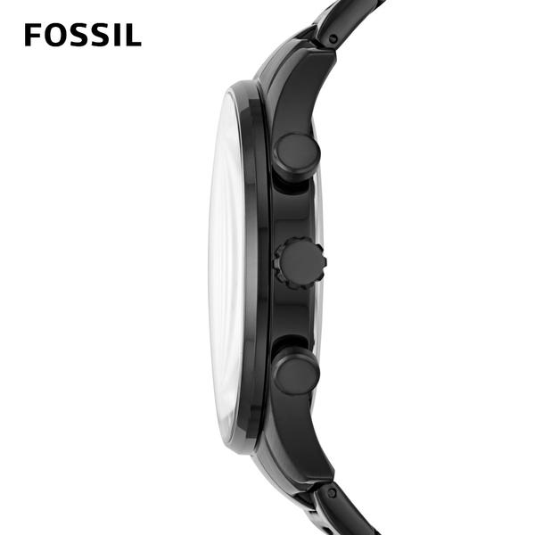 FOSSIL Sullivan 三眼極簡黑手錶 男款 不鏽鋼鍊帶 44mm BQ2448