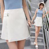 闊腿裙褲 短裙學生韓版百搭a字裙 高腰顯瘦半身裙【多多鞋包店】w491