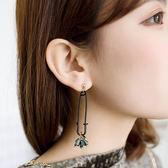 耳環 別針 造型 水晶 拼接 誇張 耳環【DD1702036】 ENTER  04/20