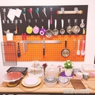 烘焙工具整理架洞洞板收納架方孔工具掛板掛架掛鉤工具墻壁置物架