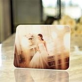 10寸蘋果水晶擺台相框冰雕相架桌擺兒童相框婚紗照擺台 全館免運
