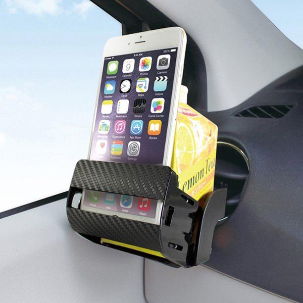 手機架 日本YAC 可加高碳纖維手機&飲料架(PZ-743)【亞克】