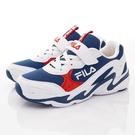 FILA頂級童鞋 復古老爹鞋款 EI03T-123白藍(中大童段)