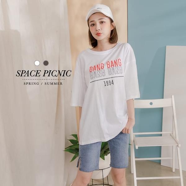 上衣 Space Picnic|圓領字母BANG上衣(現貨)【C21052076】