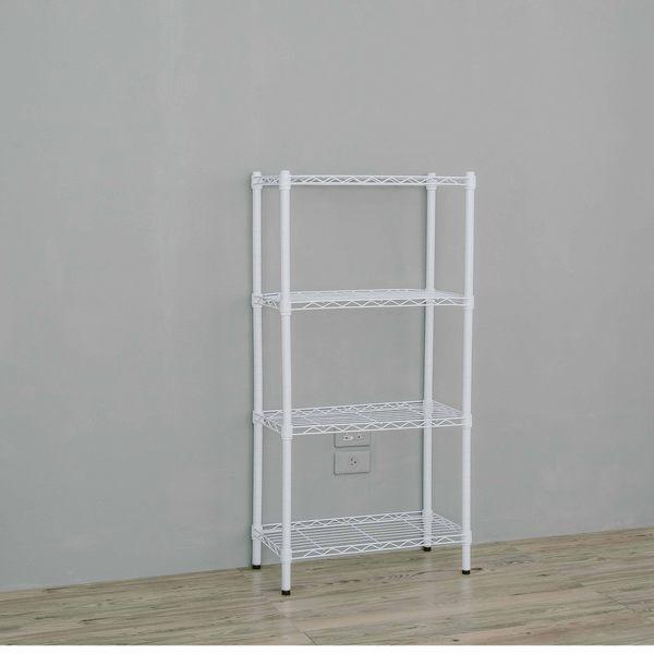 收納架/置物架/層架  60x30x120公分四層烤漆白鐵架  dayneeds
