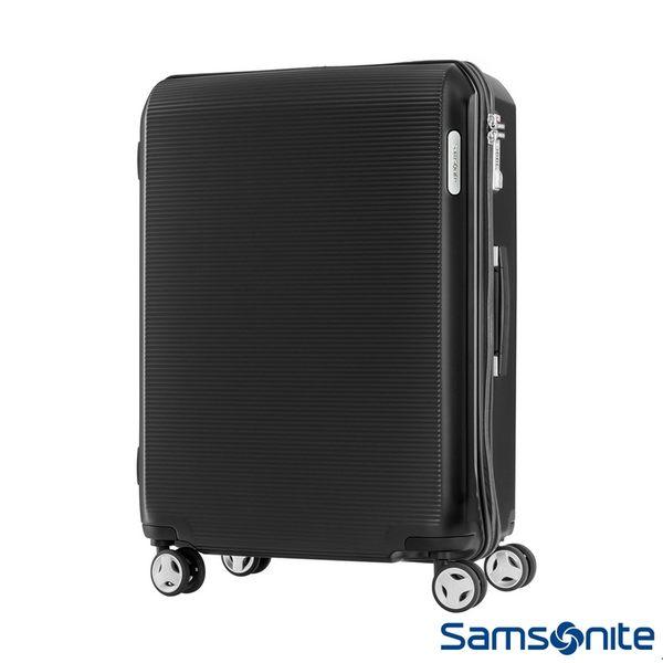 Samsonite 新秀麗 25吋ARQ 2/8開懸吊抗震減音PC硬殼行李箱(石墨黑)