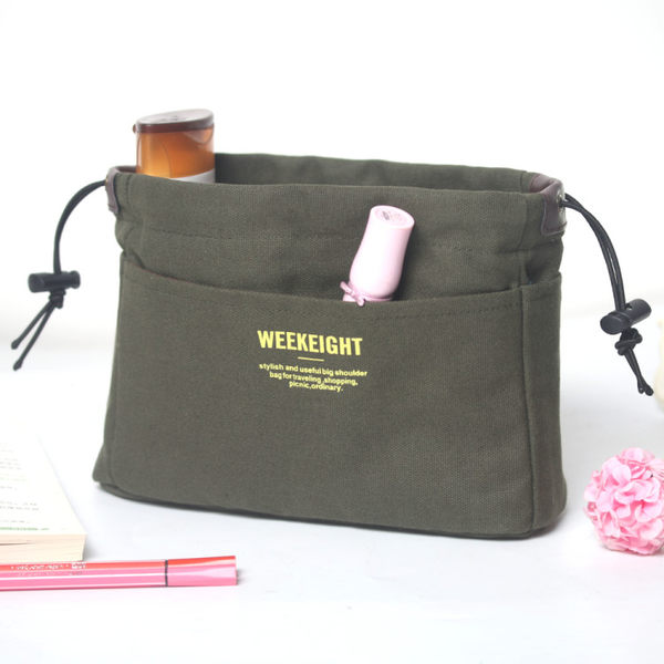 《WEEKEIGHT》簡約休閒風便利多功能收納包中包/化妝包(小型)