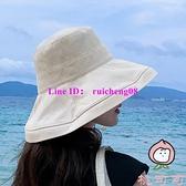 日系漁夫帽遮陽帽遮臉防曬百搭大帽檐大沿帽太陽帽【桃可可服飾】
