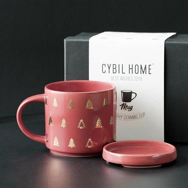 cybil圣??克杯??勺陶瓷杯子大容量家用水杯咖啡杯情?杯?盒