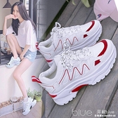 時尚拼色學生運動鞋韓版個性潮款休閒鞋防滑透氣鞋 【全館免運】