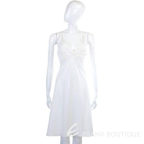 GFFERRÉ 白色V領無袖洋裝 0720063-20