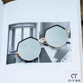 韓版多邊形防紫外線墨鏡女網紅2019新款鏡面時尚圓臉太陽鏡街拍潮