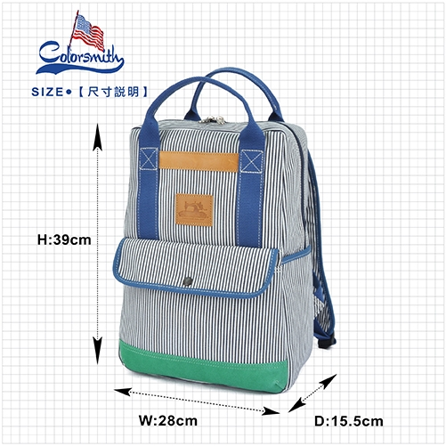 【COLORSMITH】BL.手提後背兩用包.BL1391-BW-M