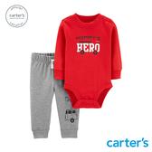 【美國 carter s】小小英雄2件組套裝