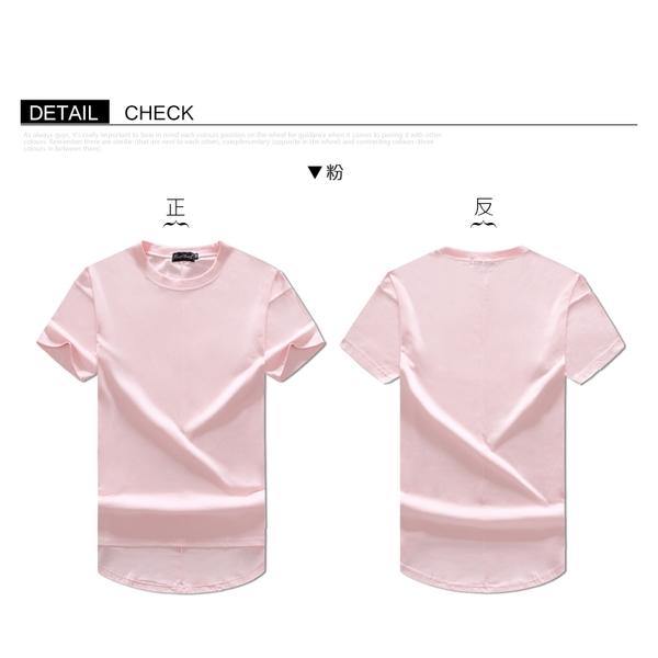 前短後長【OBIYUAN】寬鬆 素面短袖T恤 落肩 素色 圓弧衣服 上衣 共7色【HJ9655】