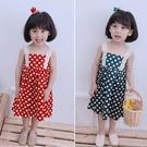 *╮小衣衫S13╭*女童夏季甜甜蕾絲吊帶園點點背心裙1080508