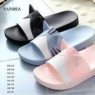 童拖●童拖貓耳粉色平底拖鞋【K906】黑色/藍色/粉色