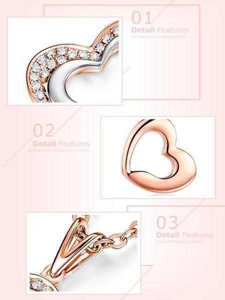 蘇菲亞SOPHIA - 擁抱真心玫瑰金鑽石項鍊