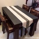 歐式美式桌旗簡約新中式奢華現代餐桌裝飾布藝桌巾茶幾旗桌墊桌旗交換禮物