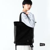 日本 KiU 112-900 黑色 側背後背2用大容量托特包: 一包變兩包, 內袋可抽出變防水購物袋