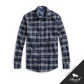 【Roush】 特殊門襟設計法蘭絨格紋襯衫 -【815707】