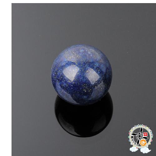 青金石(直徑約2.3公分)  + 加持保平安 小佛卡   【十方佛教文物】