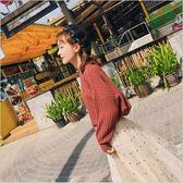 2018 新款 韓版 女裝 豎條紋 毛衣 寬鬆 長袖 針織衫 女