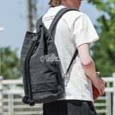 束口包抽繩男帆布健身背包戶外運動籃球包輕便水桶包旅行雙肩包女