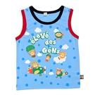 男寶寶無袖上衣 日本背心衣服 黃藍飛機   西松屋童裝 (嬰幼兒/兒童/小孩/小朋友/新生兒)