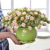 每週新品 客廳餐桌盆栽假花仿真花擺設家居裝飾花花藝套裝絹花擺件