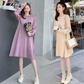 初心 針織裙 【D5511】韓系 細緻針織 V領 親膚棉感 高質感 彈力 毛衣裙 針織洋裝