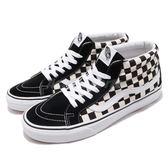 Vans SK8-Mid Reissue 黑 白 經典格紋 麂皮鞋面 中筒 經典款 休閒鞋 基本款 男鞋【PUMP306】 73010676