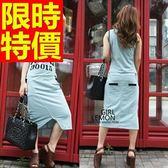 洋裝-無袖閃亮耀眼閃耀韓版連身裙61a50【巴黎精品】