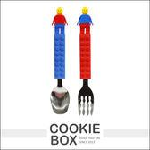 韓國 OXFORD 樂高 積木 餐具組 湯匙 叉子 學習 餐具 不鏽鋼 餐具 兒童 幼兒 *餅乾盒子*