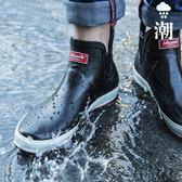 雨鞋男短筒低幫雨靴水鞋膠鞋男士女士套鞋防水防滑