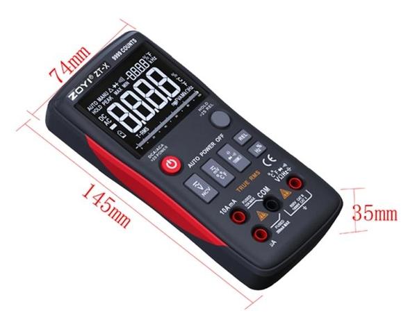 萬用表 ZOYI眾儀電測 數字萬用表 ZT-X 9999COUNTS 帶模擬條高清三顯示表全館全省免運