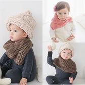寶寶圍巾  毛線鈕扣針織圍脖 (1-6歲) BU11130 好娃娃