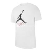 Nike 短袖T恤 Jordan Jumpman Flight Men 白 黑 男款 休閒穿搭 【PUMP306】 AO0665-100
