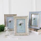歐美復古做舊手工創意相框金色灰藍色藝術6寸7寸婚紗照擺臺掛墻 萬客居
