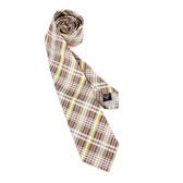 Vivienne Westwood經典斜格紋絲質領帶(卡其黃)949100-7