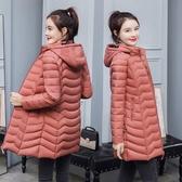 新款輕薄棉服女中長款冬裝棉衣女冬季媽媽薄外套