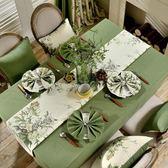 桌布桌墊 美式網紅餐桌布茶幾桌布布藝棉麻小清新長方形現代簡約桌旗桌墊 麻吉部落