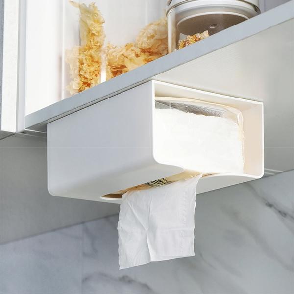 壁掛面紙盒 置物盒 收納盒 多功能 衛生紙盒 紙巾盒 可倒掛 ⭐星星小舖⭐台灣出貨【SB112】